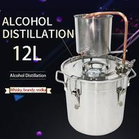 Moonshine Distiller 12L Family Self Winemaking equipment vodka whiskey brandy alcohol making distillation