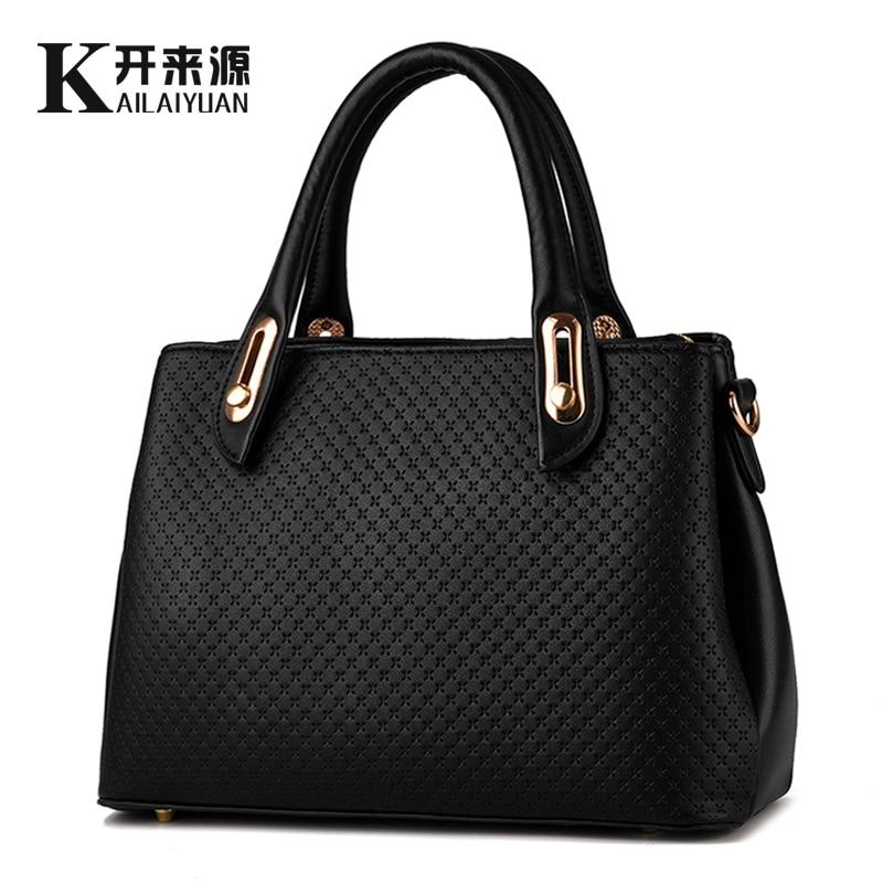 KLY 100% cuero genuino bolsos de las mujeres 2018 nuevo estilo mujer estereotipos bolso bolsos de moda hombro bolso mensajero