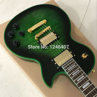 Manufacturer Of Custom Wholesale All Kinds Of Electric Guitar LP Tiger Stripes TBL Color Can Be
