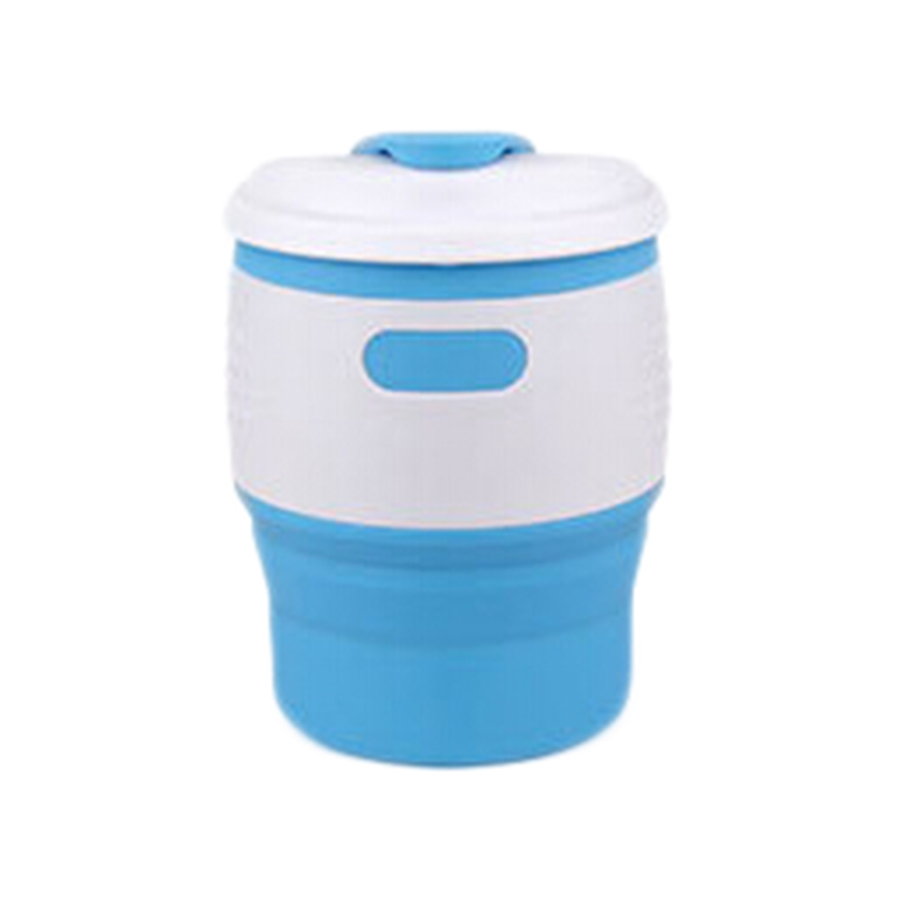 1 Pc Silicone Folding Cup Easy To Carry Outdoor Traveling Drinking Cup Foldbale Save Space Tableware CupTeacups