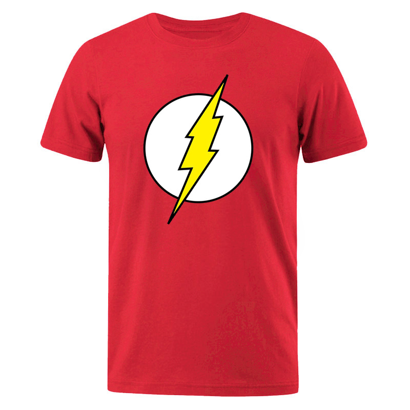 The BIG BANG Theory T-SHIRT The Lightning Print The Flash Men T Shirts Hot Sale Casual Tee Shirt Cotton Clothing Plus Size 3XL