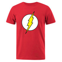 The BIG BANG Theory T-SHIRT The lightning Print The Flash Men T Shirts Hot Sale Casual Tee Shirt Cotton Clothing Plus Size 3XL(China)