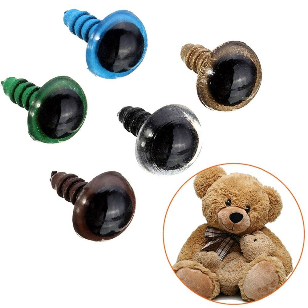 20 штук 10 мм кукла аксессуары Mix Цвет безопасные пластиковые глаза игрушки для Childern Тедди медведь кукла животных для кукольного ремесла гугли глаза используется