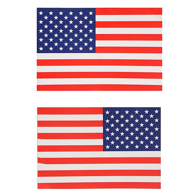 2pcs lot american flag sticker for car window laptop motorcycle mirrored sticker flags decal walls