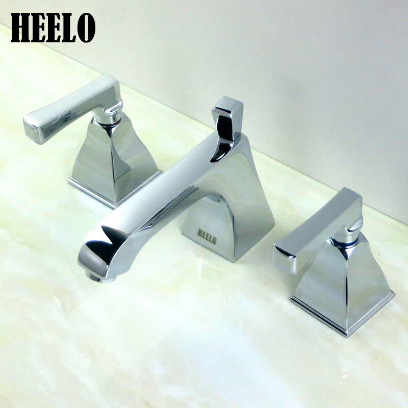 Kitchen Faucets Brass Polished Silver Basin Faucet Square Single Handle Single Hole Sink Taps Hot Cold Deck Mounted electroplate kitchen faucets brass polished silver bathroom faucet double handle single hole mixer taps hot cold deck mounted