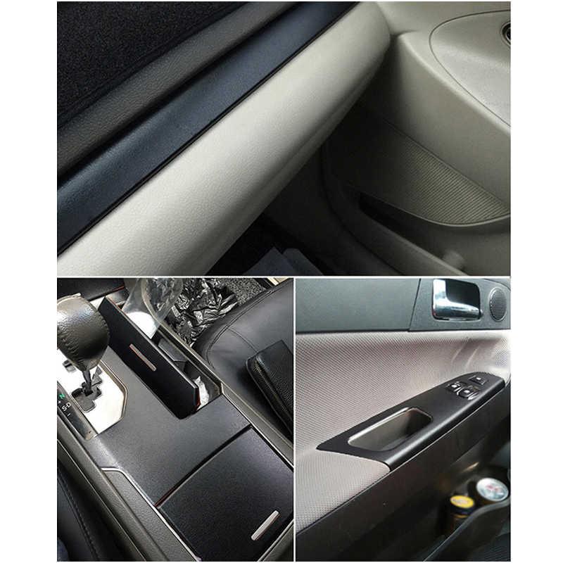 Autocollant d'enveloppe de vinyle texturé de peau de cuir de Grain intérieur de voiture de mode PVC noir