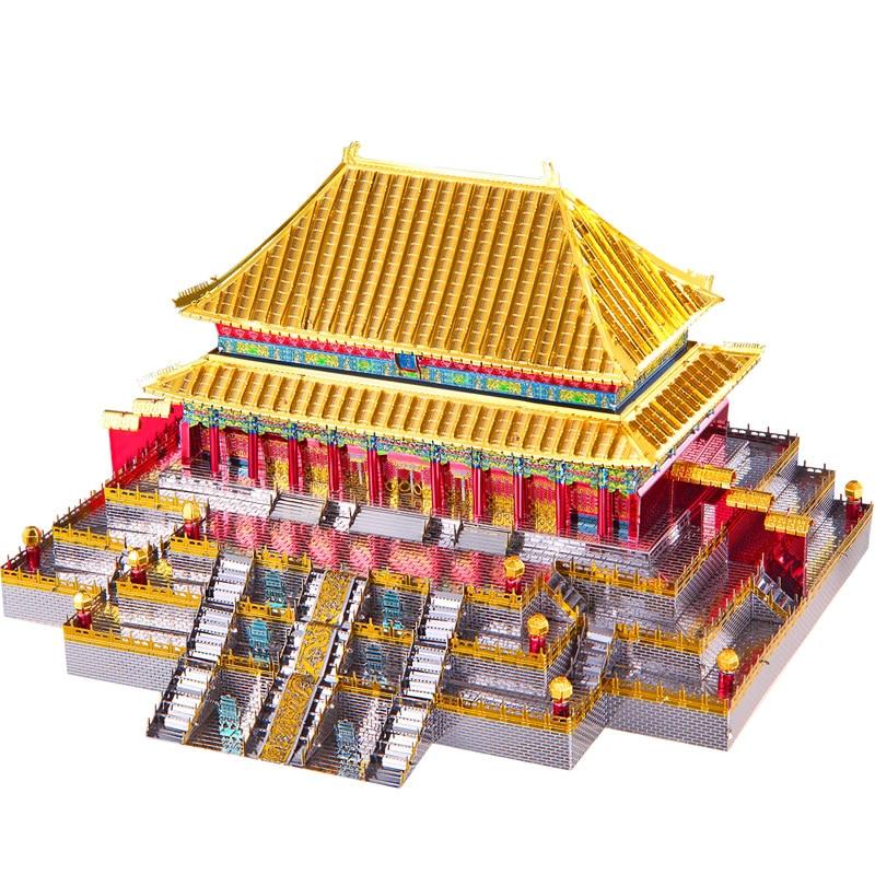 Piececool Hall De L'harmonie Suprême Architecture 3D Métal Puzzle BRICOLAGE Assembler Modèle Kits Laser Cut Puzzle Jouet Cadeau P108-GSR