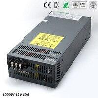 Мощность питания dc12v 80A 1000 Вт Светодиодный драйвер для Светодиодные полосы Дисплей Регулируемый постоянного тока для Источники питания с эл