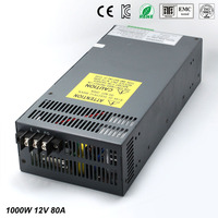 Power supply dc12V 80A 1000w Led Driver For LED Light Strip Display Adjustable DC to AC Power Supplies with Electrical Equipment