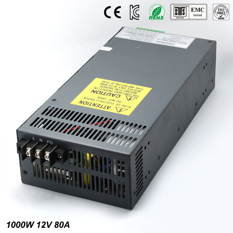 Power supply dc12V 80A 1000w Led Driver For LED Light Strip Display Adjustable DC to AC Power Supplies with Electrical Equipment 1200w 48v adjustable 220v input single output switching power supply for led strip light ac to dc
