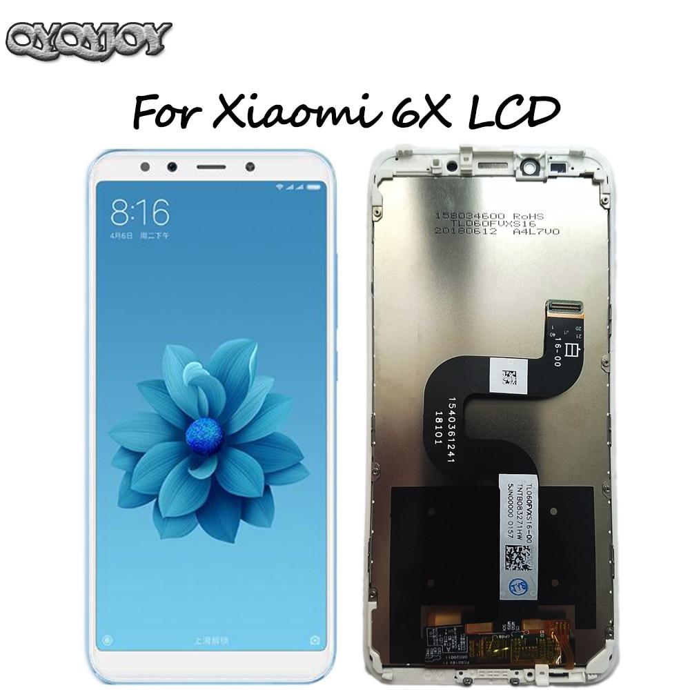 Xiao mi mi A2 A2 Display LCD de Toque Digitador Assembléia Tela para Xiao mi mi mi mi 6X 6X Substituição peças de reparo Branco 5.99 polegada