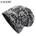 CACUSS Hot Autumn Winter Women Beanies Cross Hat Skullie Scarf Flowers Hip-Hop Women Outdoor Beanies Hat Cotton Sporty Cap Male