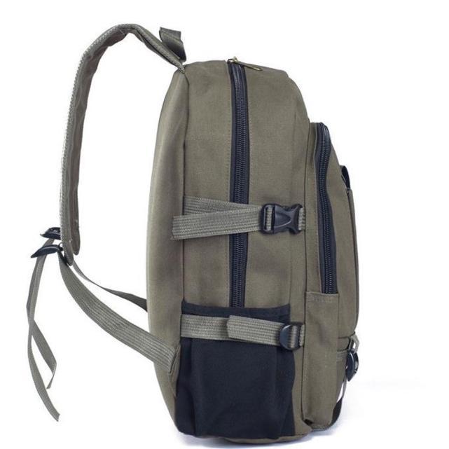 New Arrivals Man Vintage Canvas Backpack Boys Fashion Protable School Travel Bag Male Casual Multifunction La Mochila Bag Dec7