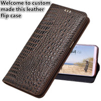 ND01 genuine leather flip case for Sony Xperia Z3 Compact phone case for Sony Xperia Z3 Compact flip cover free shipping