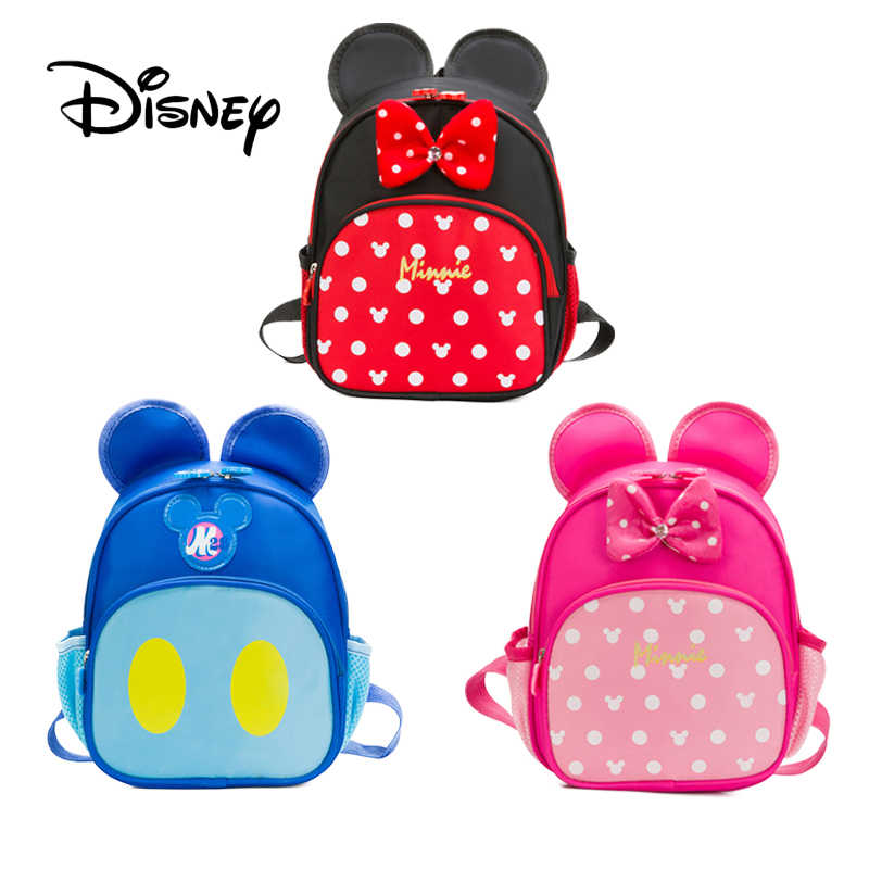 dfb919c09a6 Disney Children Mickey Minnie Mouse Boys Girls Student Backpacks School Bag  Cute Kids School Bag Cartoon