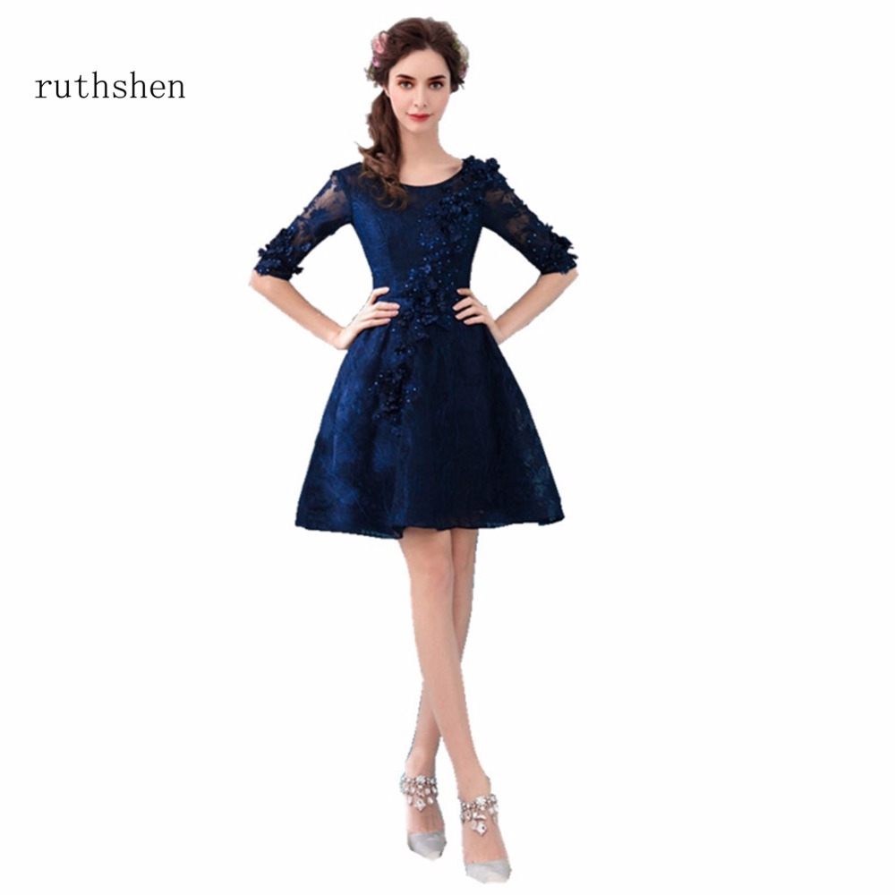 ruthshen knee length short prom dresses robe bal de promo. Black Bedroom Furniture Sets. Home Design Ideas