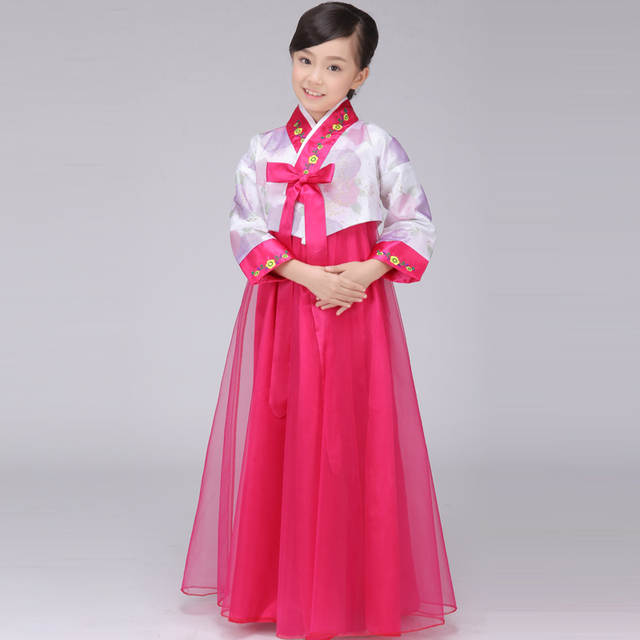 916407601 Rushed Top Fashion Polyester Dance Costumes Hmong Clothes Disfraces Korean  National Costume Kids Women