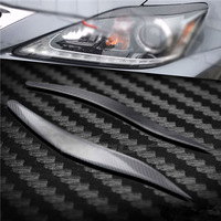 Carbon Fiber Headlight Cover Eyebrows Eyelid Trim Sticker For Lexus IS250 IS300 2006 2012