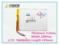 Best Battery Brand Free Shipping 35100145 Polymer Lithium Ion Battery 3 7 V 7000mAh CE FCC