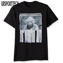 URSPORTTECH Men's T Shirt Yoda's Free Words Of Wisdom T-Shirt Summer Cool Design Tops Soft Cotton Short Sleeve Tops Tees Homme