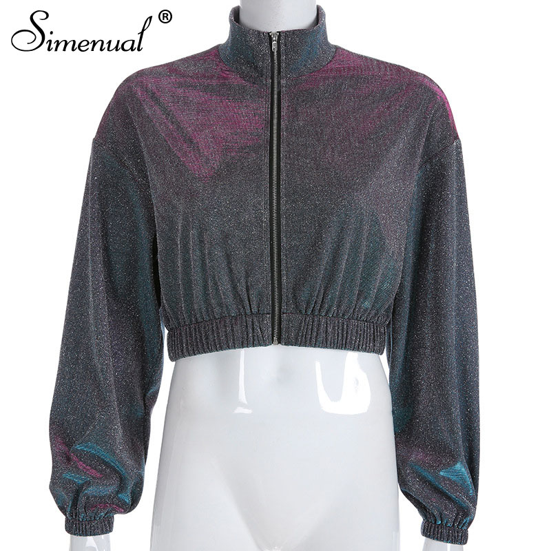 sequin zipper highstreetwear women sweatshirts long sleeve turtleneck (4)