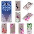 Transparente tpu silicone borboleta flor menina phone cases para samsung galaxy a310 a510 j3 j5 j7 2016 escudo do telefone móvel
