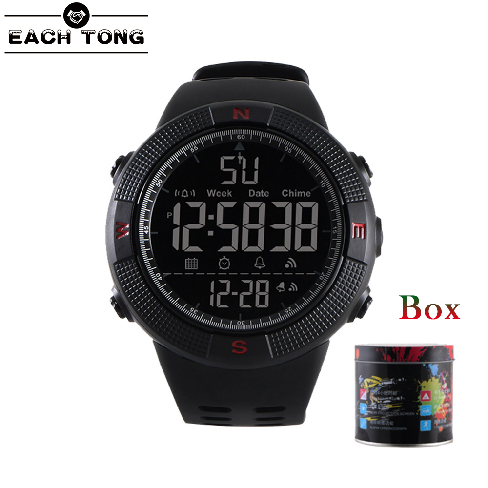 New Men Sport Watches Big Dial Quartz Digital Watches Watch LED Military Waterproof Wrist Watch Male Gift Wristwatches