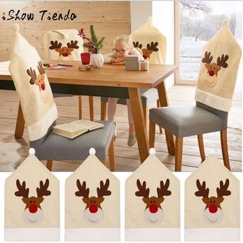 4 Unid ciervos sombrero silla cubiertas decoración De Navidad cena ...