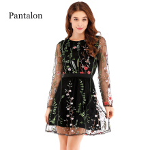 cd49f3b88da6e Buy floral embroidery mesh dress and get free shipping on AliExpress.com