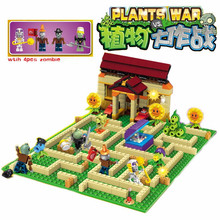 Plants vs Zombies Garden maze struck game Building Blocks Bricks Like Lepin figures My world Minecraft Toys for children gift