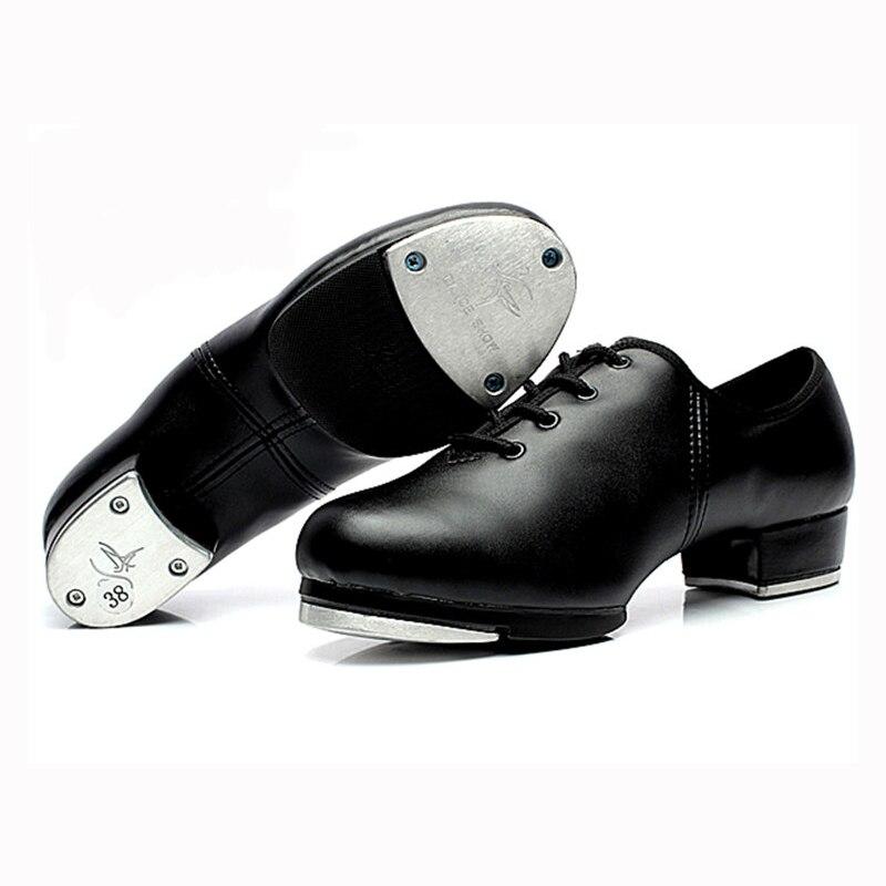 Vera Pelle Donna Ragazza s  Step Tap Scarpe Da Ballo Per Bambini Tip Tap  Per Adulti Performance di Danza Scarpe Da Ginnastica tacco 3.5 cm Taglia 34  42 1707 ... 1bea2a96a5e