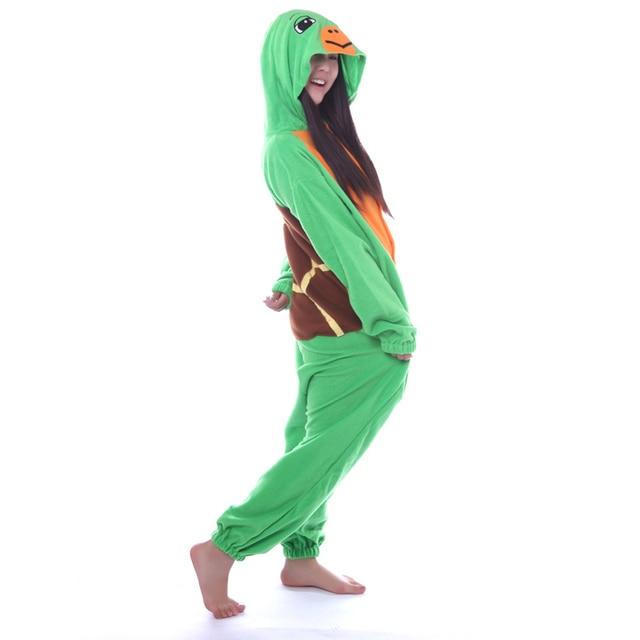 6e37ddcfc Green Turtle Onesies Costumes Unisex Sleepsuit Adult Costume Cosplay ...