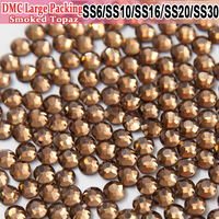 Bulk Packing Smoked Topaz Strass All Size Hot Fix Heat Transfer Design Iron On Hotfix Rhinestones For Pretty stoning pattern