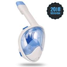 2018 Nowa maska do nurkowania z podwodnym płetwą przeciwmgielna Komplet do nurkowania z rurką Zestaw do nurkowania z maskami oddechowymi Bezpieczny i wodoodporny