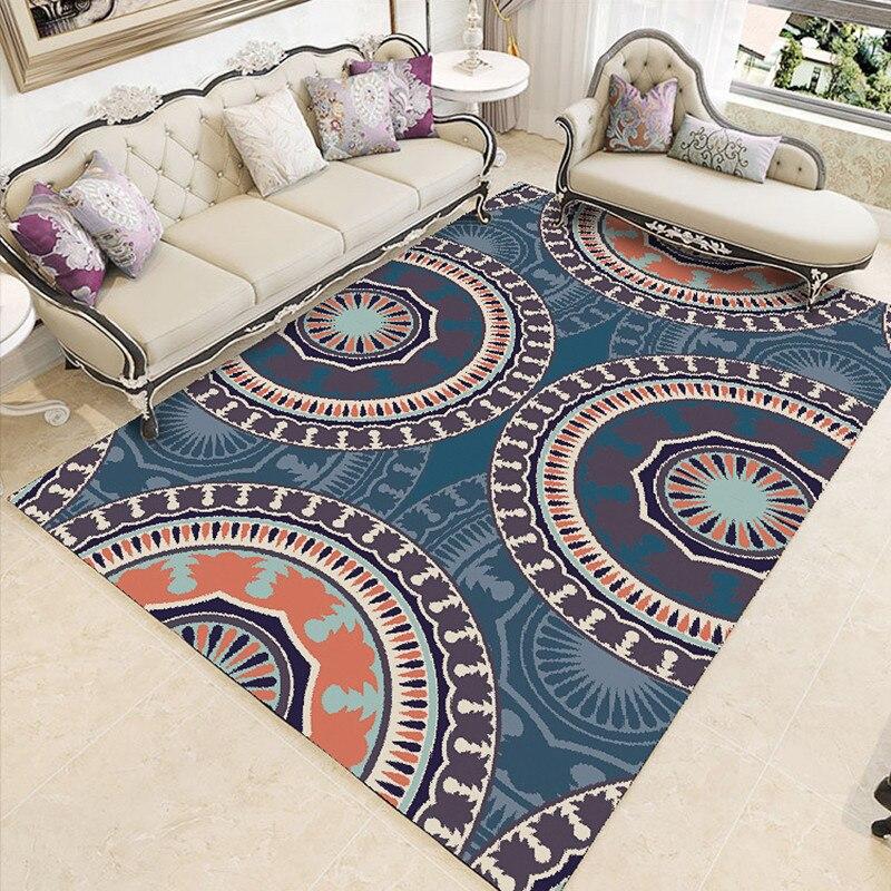 Tapis Rectangle imprimé couronne pour salon chambre enfant aire de jeux tapis corail velours chaise tapis de sol maison Textile extérieur - 3