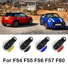 ABS breloczek obudowa kluczyka do samochodu obudowa pilota do mini cooper F55 F56 F57 F54 F60 jcw klucz pokrywa tworzywo sztuczne chorme tanie tanio A-Welt 0inch Breloki Indoor decorations Protect the car key For Bmw mini F55 F56 F57 F54 F60 Blue red yellow black For mini cooper car key case