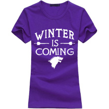 Winter Is Coming Printed T-Shirt for Women