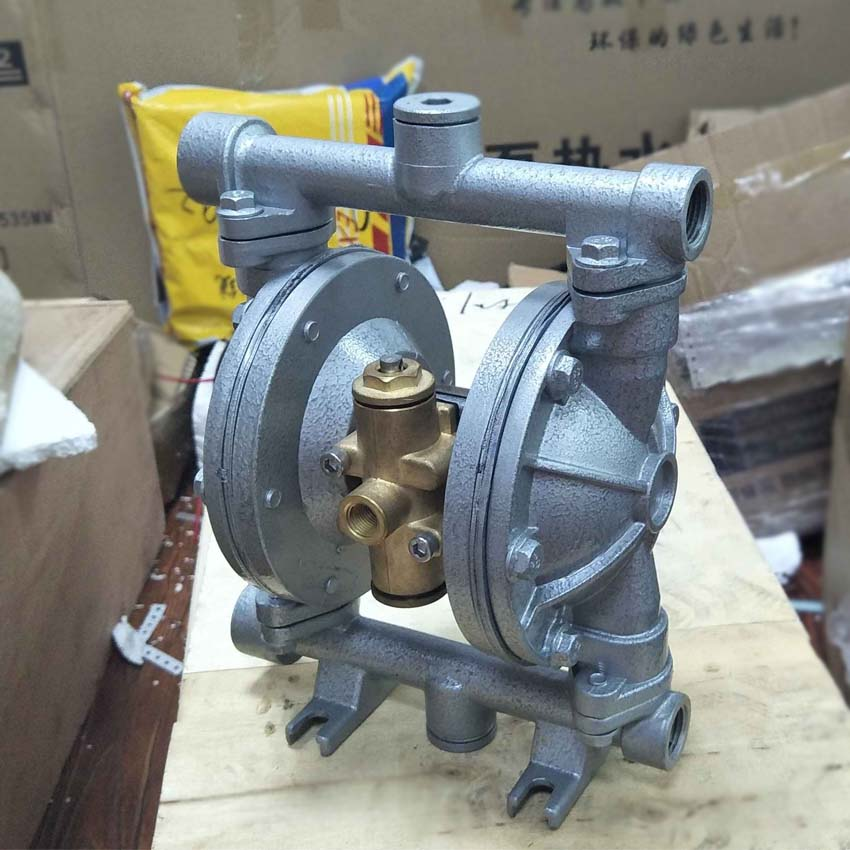 1pc QBY-15 Hot Sale 1/4inch 0-1m3/h Aluminum pneumatic diaphragm pump with NBR diaphragm aro ingersoll rand pneumatic diaphragm pump 1 1 2 metal pump housing 666170 3eb c