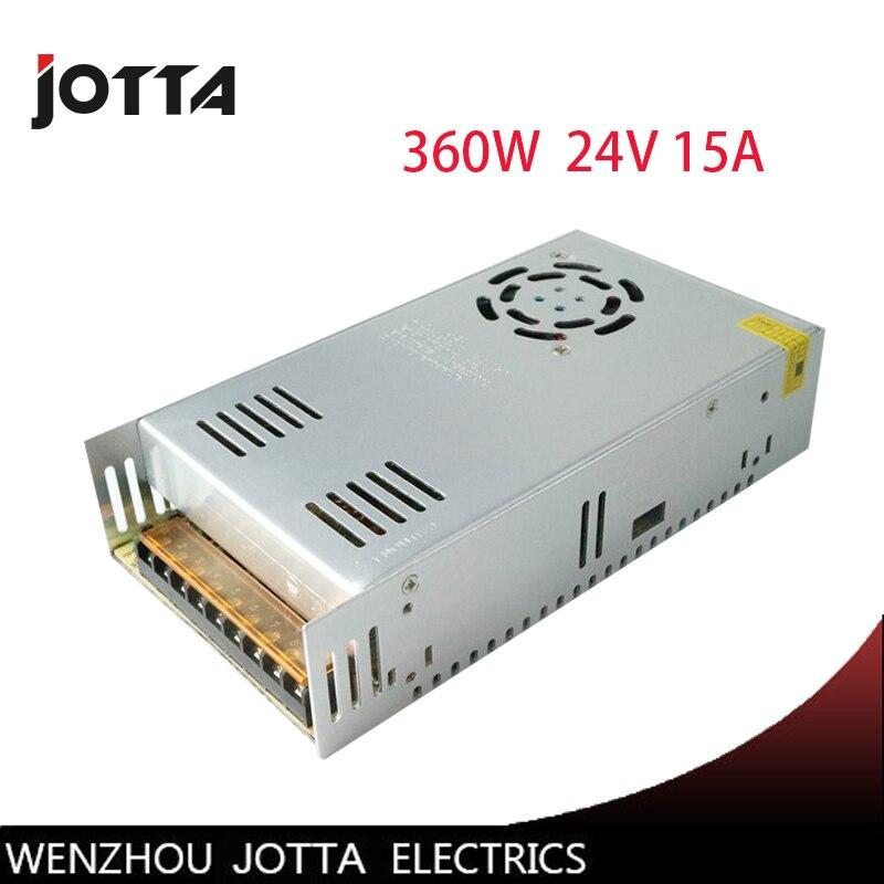 360 W 24 V 15A LED Bande CNC 3D Impression Petit Volume Sortie Unique Transformateur AC À DC alimentation à découpage fournir
