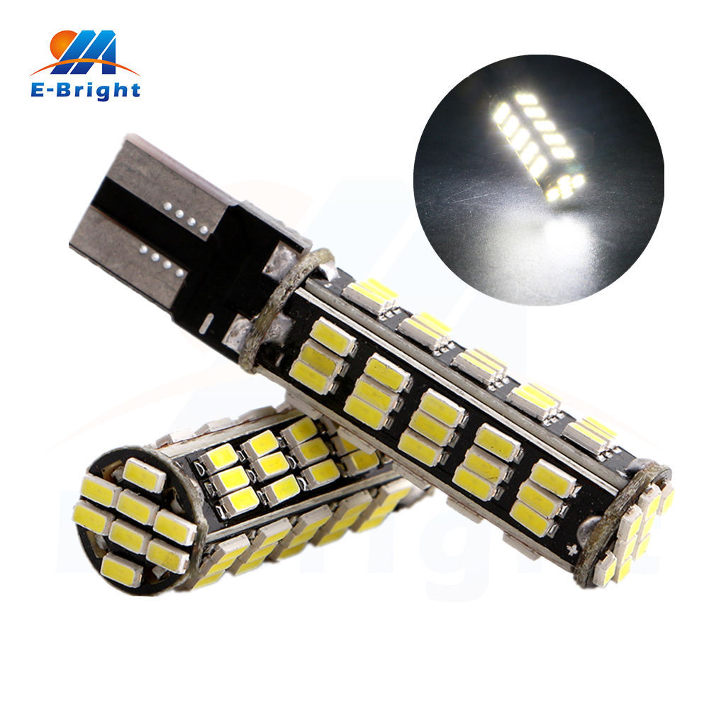 Free Shipping 100pcs/lot T10 PCB 3014 68 SMD Led Bulb 680LM 12V Auto Lamp Tail Light Parking Car Indicator Light 12V Led Factory  free shipping 2pcs lot t10 ba9s car led lamp light 12v parking lamp light bulb for nissan qashqai with xenon terrano3 xtrail