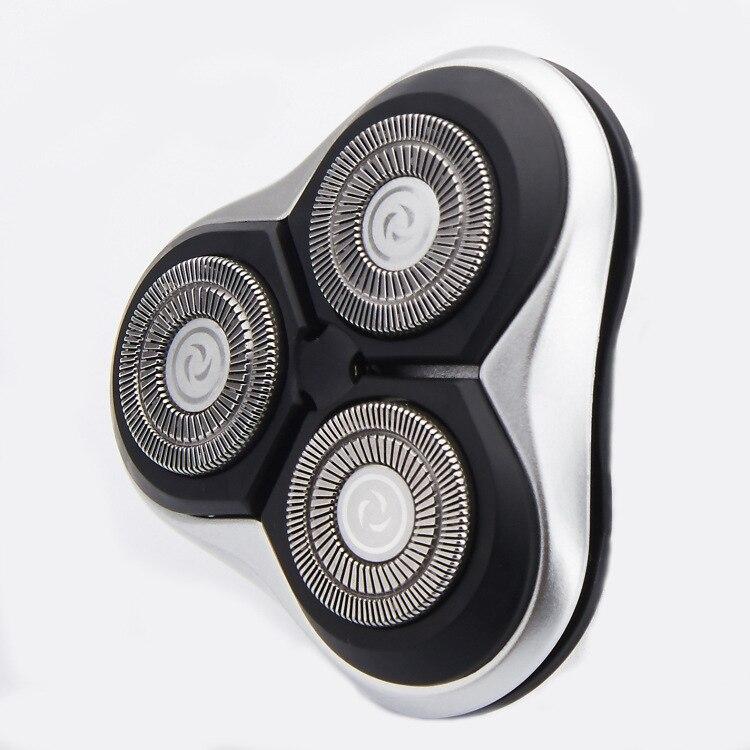 Men Electric Shaver Replacement Shaver Head 3 Heads Waterproof Spare Shaving Razor