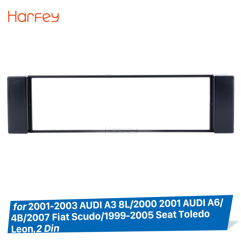 2x Carbon ABS Number Plate Surrounds Holder Frame For Audi A3 8L 8P Sportback