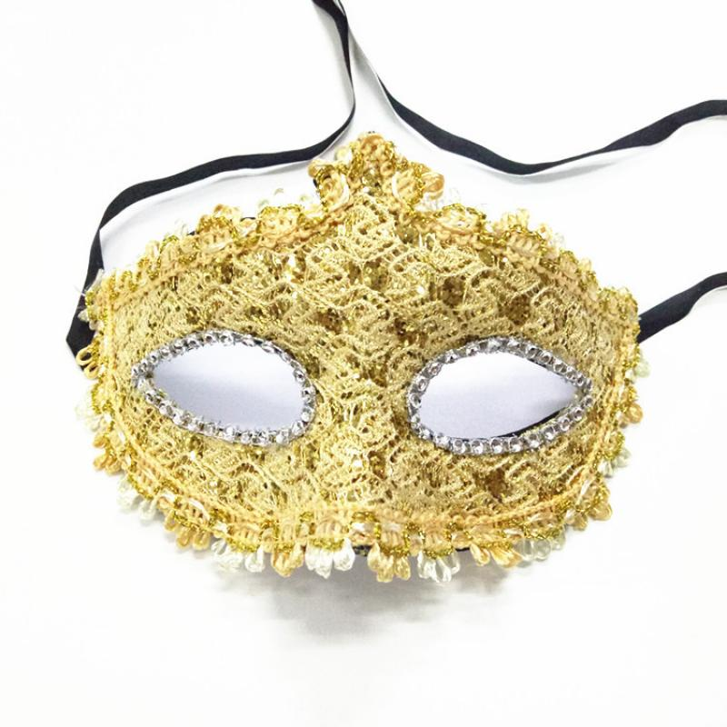 1pc Sexy Women Lace Mask Venetian Masquerade Ball Party Carnival Face Plastic Masquerade Mask Girls Half Face Party Dance Mask in Party Masks from Home Garden