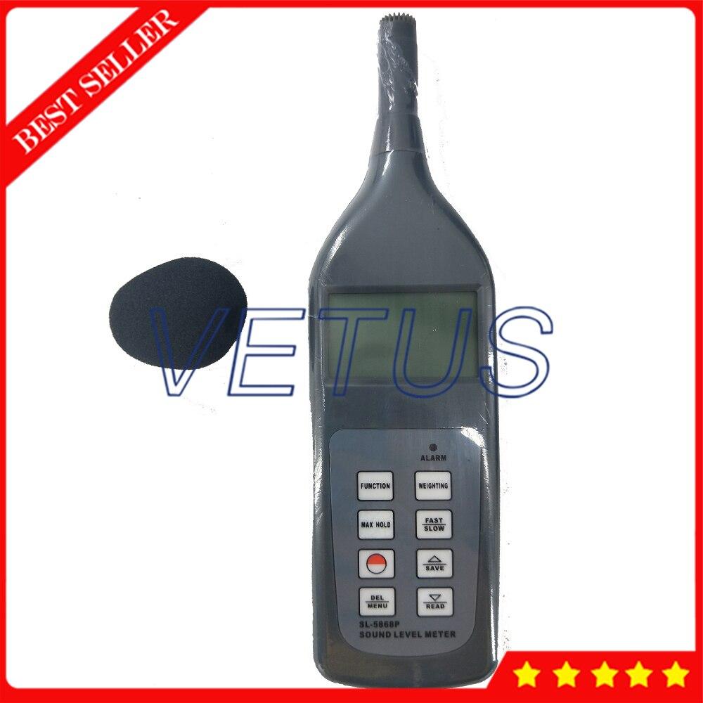 Testeur de sonomètre numérique SL-5868P testeur de sonomètre avec résolution 0.1dB 4 paramètres de mesure - 2