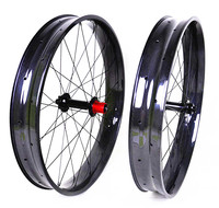 Carbon Fat Bike Wheels 26 Inch Snow Bike 32 Holes Clincher Hookless Rims 80mm Width 25mm Depth Top Quality Factory Offer