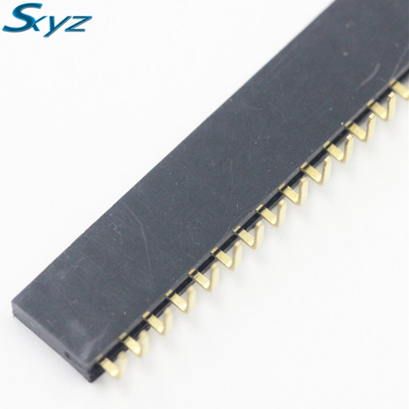 10pcs 40 Pin 1x40 Single Row Female 2.54mm Breakable Pin Header Right Angle цена