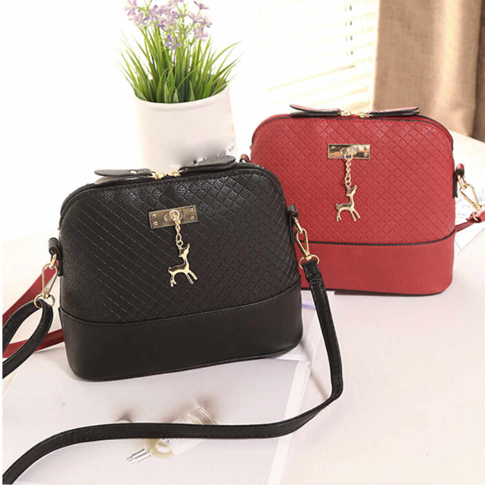 HOT SALE 2019 Women Messenger Bags Fashion Mini Bag With Deer Toy Shell Shape Bag Women Shoulder Bags handbag#25