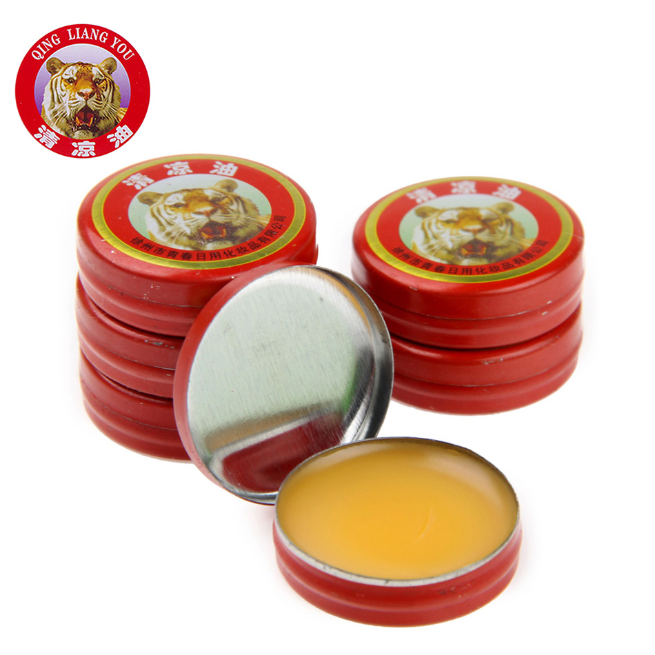 24 PCS/Box Classical Chinese Brand Tiger Balm Pain Relieving Tiger Balm Ointment Pure Natural Peppermint Essential Oil
