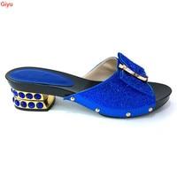 doershow Italian Ladies Sexy High Heels blue Shoes Rhinestones Ladies Pumps African Sandal Shoes for Parties Wedding SKI1 7