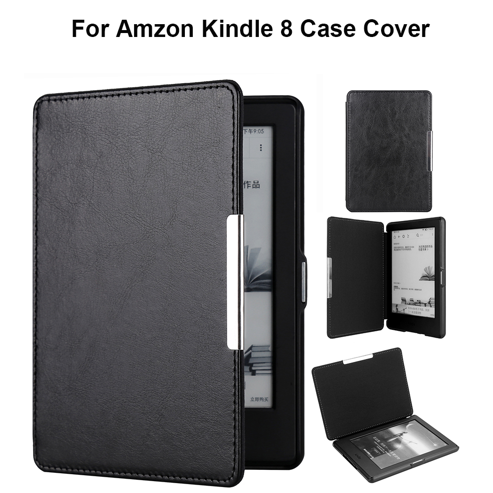 3c283cdee54 Clasp magnet flip leather case for new kindle 2016 8th generation fundas  for amazon kindle 8